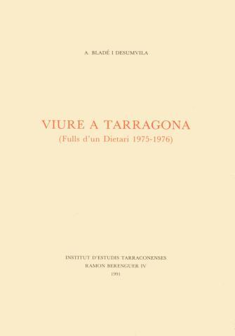 Viure a Tarragona (Fulls d'un dietari 1975-1976)