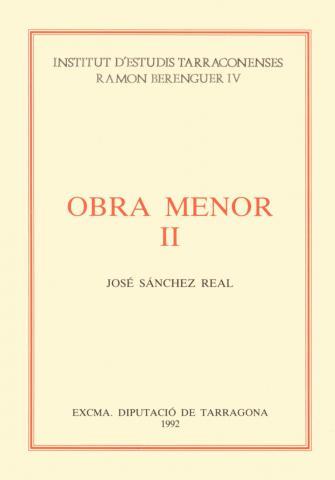Obra Menor II: Artículos publicados en la prensa de Tarragona (1970-1978)