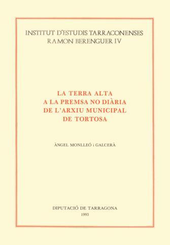 Terra Alta a la premsa no diària de l'Arxiu Municipal de Tortosa, La