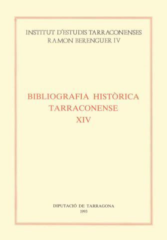 Bibliografia Històrica Tarraconense XIV