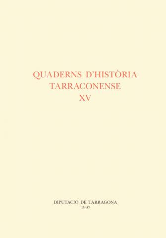 Quaderns d'Història Tarraconense XV