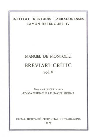 Breviari crític (vol. V)