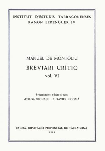 Breviari crític (Vol. VI)