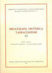 Bibliografia Històrica Tarraconense VI