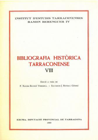 Bibliografia Històrica Tarraconense VIII