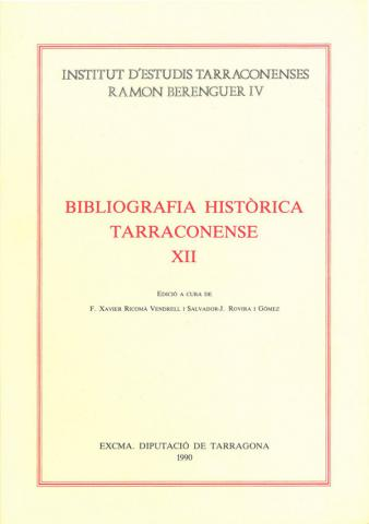 Bibliografia Històrica Tarraconense XII