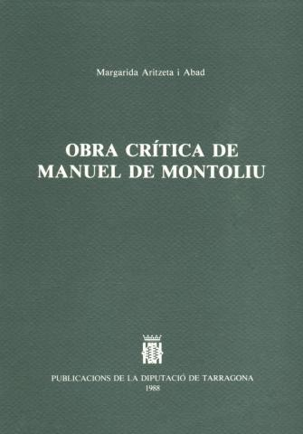 Obra crítica de Manuel de Montoliu