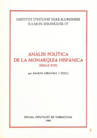 Anàlisi política de la monarquia hispànica: S. XVII