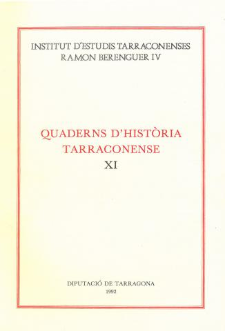 Quaderns d'Història Tarraconense XI