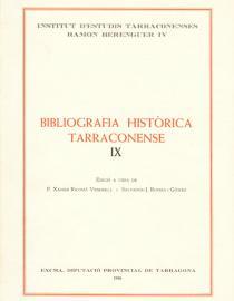 Bibliografia Històrica Tarraconense IX