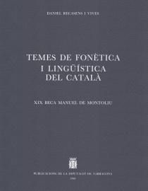 Temes de fonètica i lingüística del català