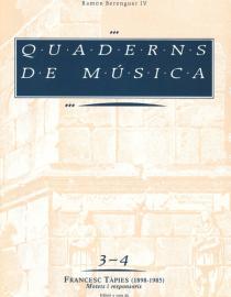 """Quaderns de Música 3-4. """"Motets i responsoris"""" F. Tàpies"""