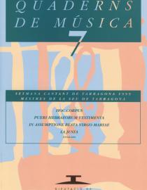 Quaderns de Música 7. Mestres de la seu de Tarragona.
