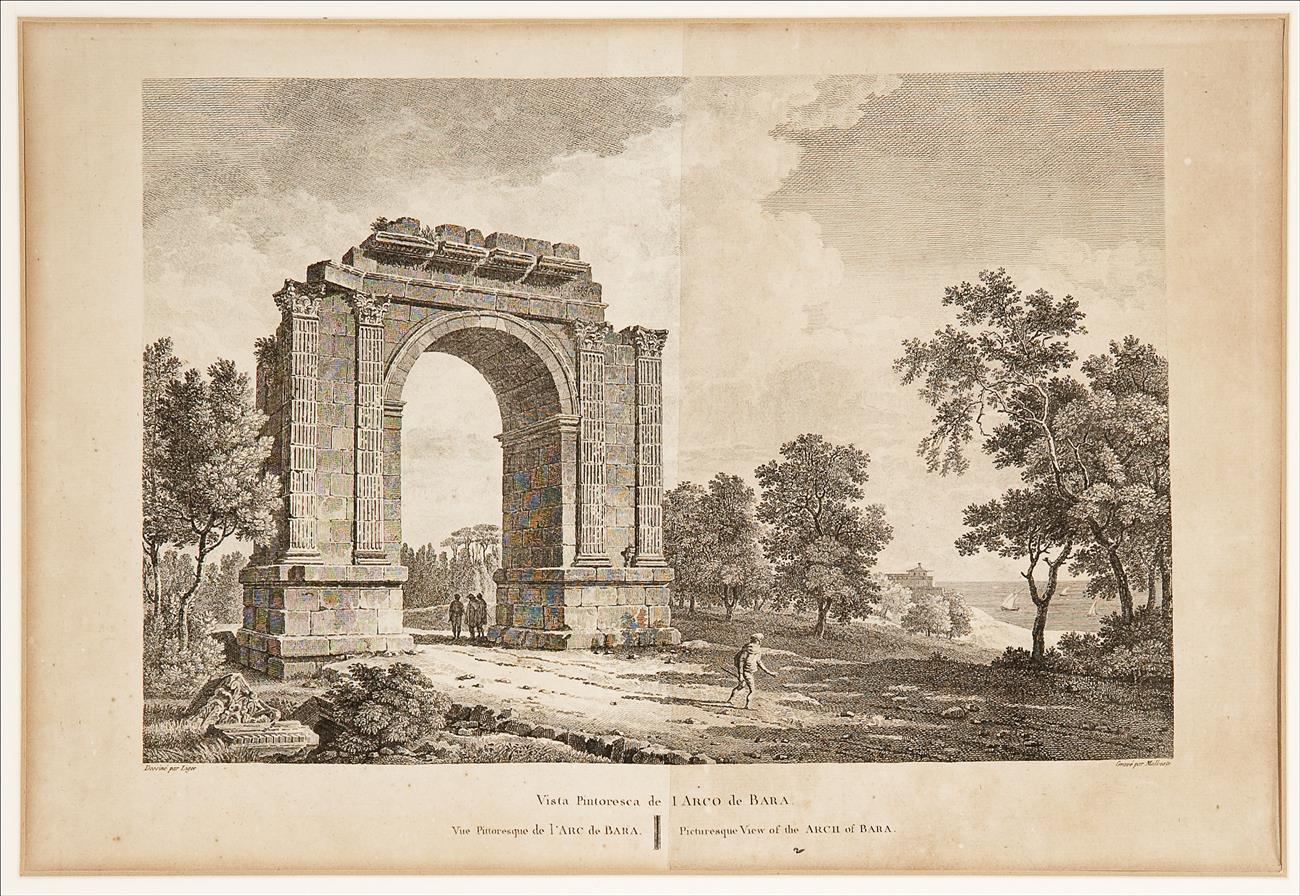 Vista pintoresca del Arco de Barà   Ligier, François