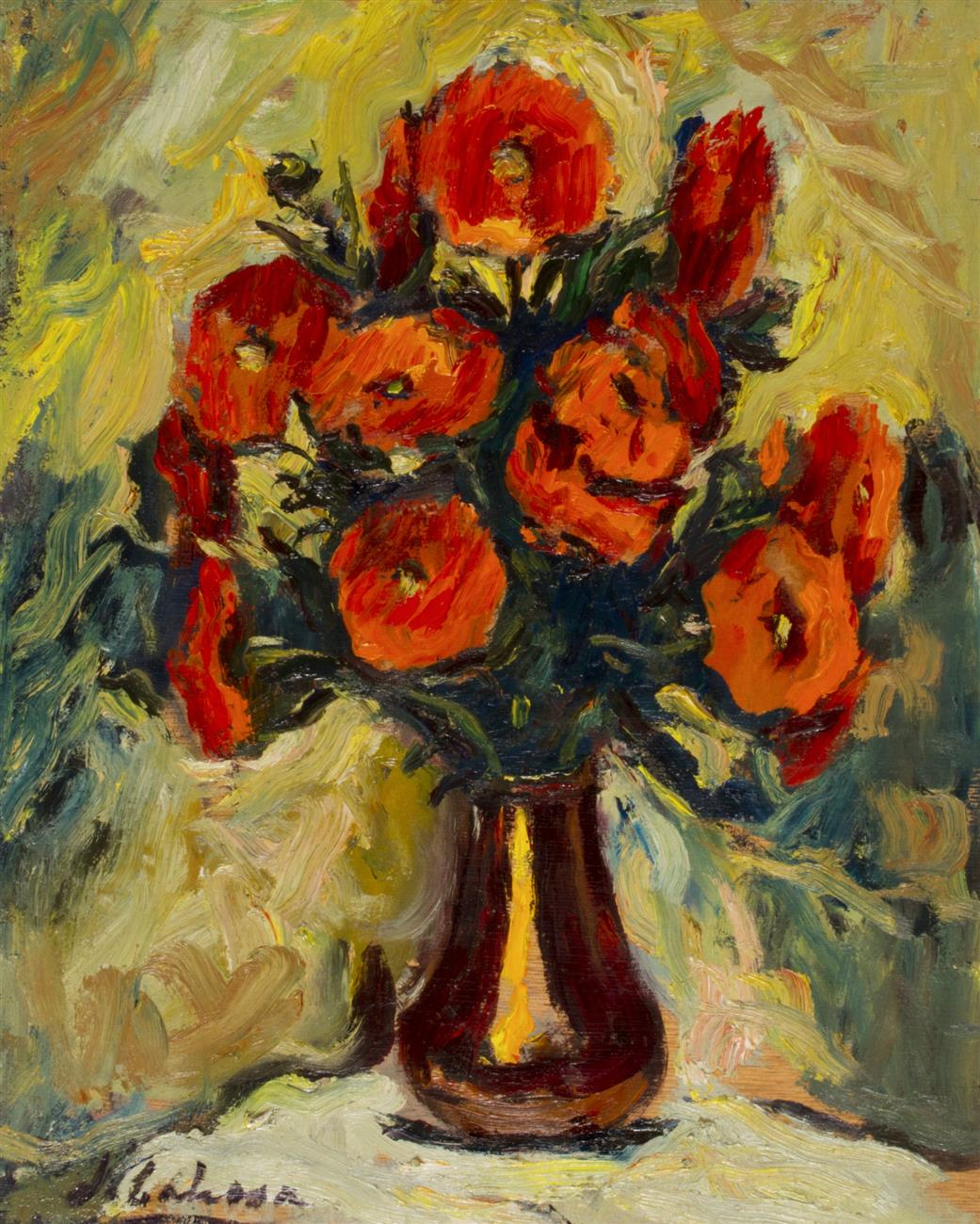 Flors en un gerro de coure | Lahosa Valimaña, Joan