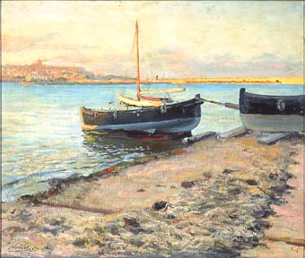 Barques, al fons Tarragona | Sancho Piqué, Josep