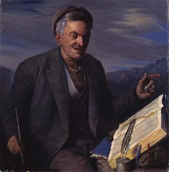 Home escrivint | Sancho Piqué, Josep