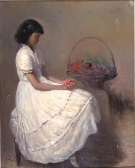 Noia del vestit blanc | Sancho Piqué, Josep