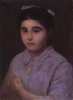 Noia amb llaç al cap | Sancho Piqué, Josep