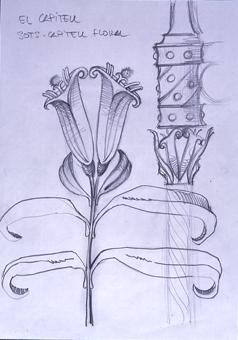El capitell. Sost capitell floral   Borrás Fà, Jordi