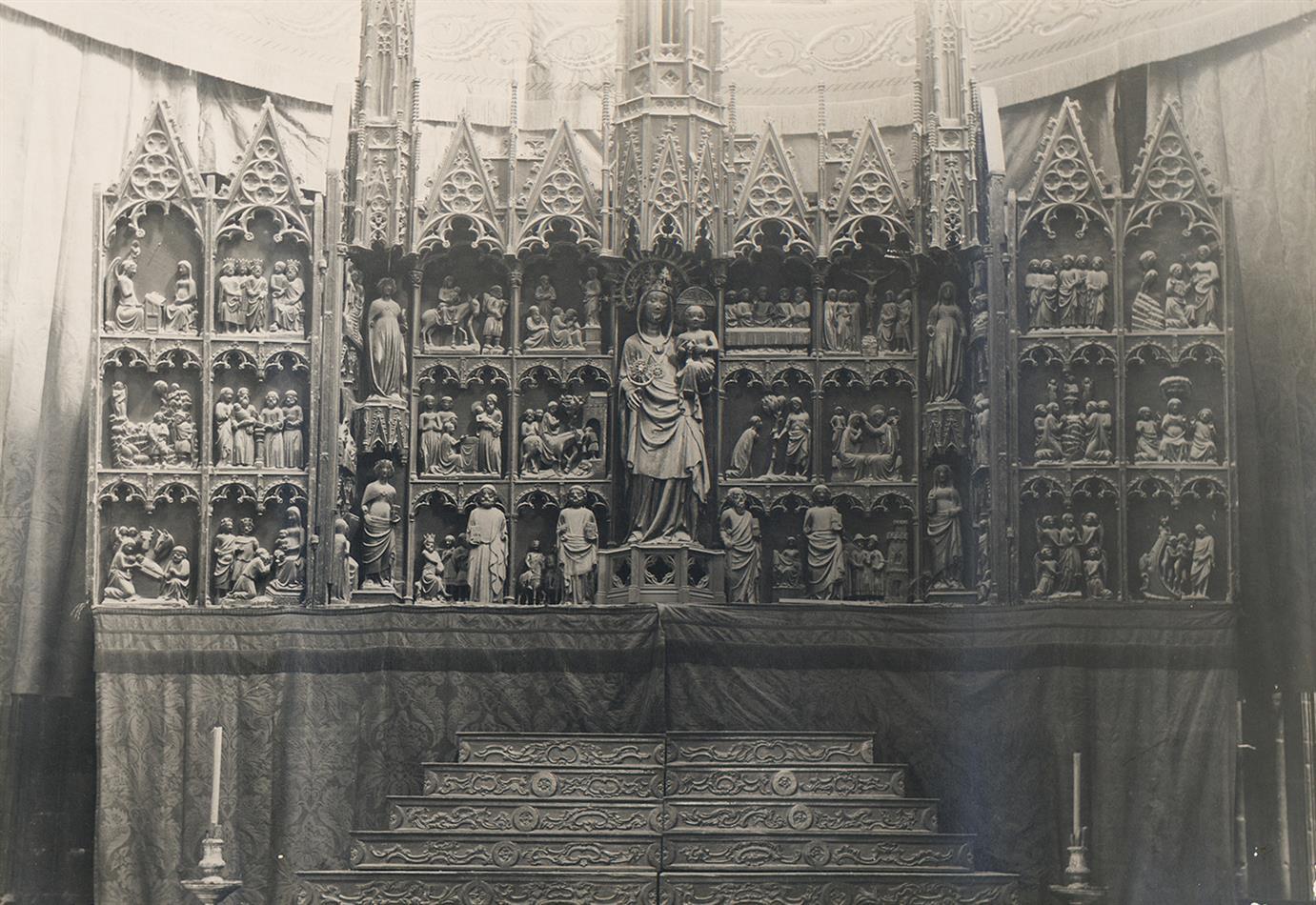 Tortosa. Catedral. Tríptic de l'Altar Major   Borrell i Codorniu, Ramon (Tortosa, 1869 - 1948)