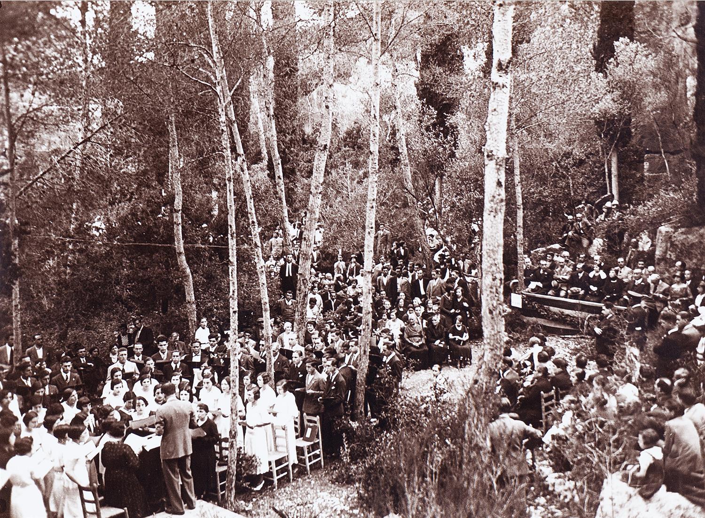 Tarragona. El Mèdol. Visita del President Macià.   Vallvé Vilallonga, Hermenegild