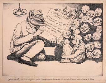 "Horrors d'una guerra: ""¿Chirigotero? ... Ser de inteligencia sutil i casquivana, inventor de chistes i chismeos para divertir a bobos."" | Sancho Piqué, Josep"