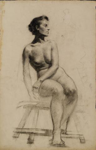 Dona asseguda | Torres Fuster, Antoni