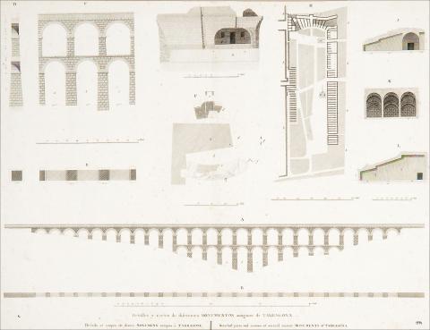 Detalles y cortes de direrentes Monumentos antiguos de Tarragona | desconegut