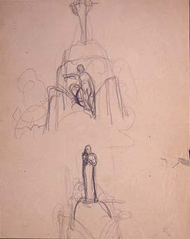 Esbós de monument a Wagner. Croquis-8 | Julio Antonio (Rodríguez Hernández, Julio Antonio)