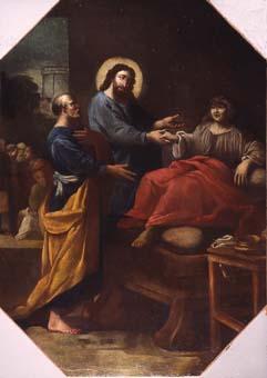 Jesucrist guarint la filla de Jairo | anònim