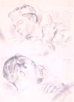 Abelard Paul dormint | Ripoll, M.Teresa i Sahagún
