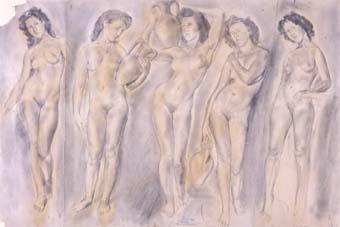 Cinc nus femenins | Ripoll, M.Teresa i Sahagún
