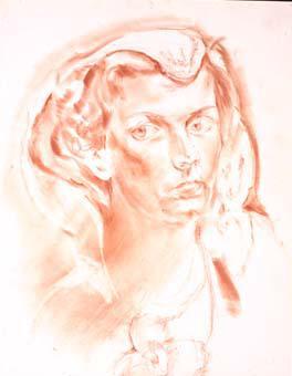 Retrat de noia amb vel al cap | Ripoll, M.Teresa i Sahagún