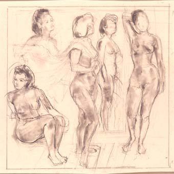 Cinc figures femenines | Ripoll, M.Teresa i Sahagún