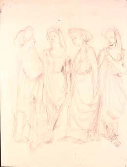 Model amb túnica | Ripoll, M.Teresa i Sahagún