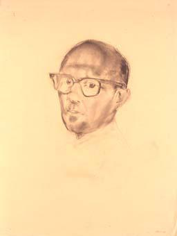 Retrat d'un home amb ulleres | Ripoll, M.Teresa i Sahagún