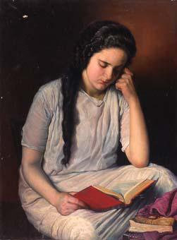 Noia llegint | Sancho Piqué, Josep