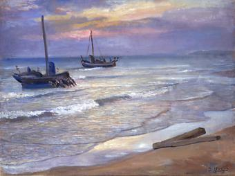 Calafell. Salida de barcas | Nogué Massó, José