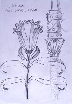 El capitell. Sost capitell floral | Borrás Fà, Jordi