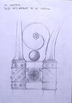 El capitell. Base dels nervis de la cúpula | Borrás Fà, Jordi