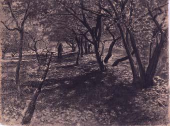 Paisatge, arbres i sèquia | Sancho Piqué, Josep