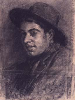 Joven con sombrero | Sancho Piqué, Josep