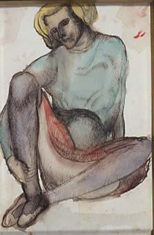 Noia asseguda | Martínez Hugué, Manuel