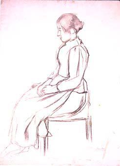 Dona asseguda | Sancho Piqué, Josep