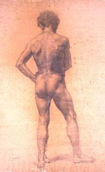 Nu masculí d'esquena | Sancho Piqué, Josep