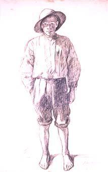 Noi amb barret | Sancho Piqué, Josep