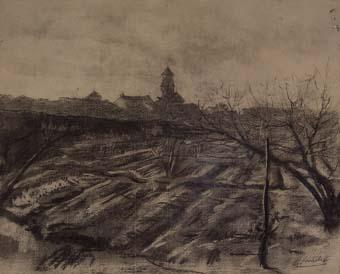 Vista del poble   Sancho Piqué, Josep