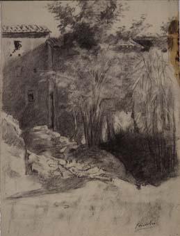Casa i arbres   Sancho Piqué, Josep