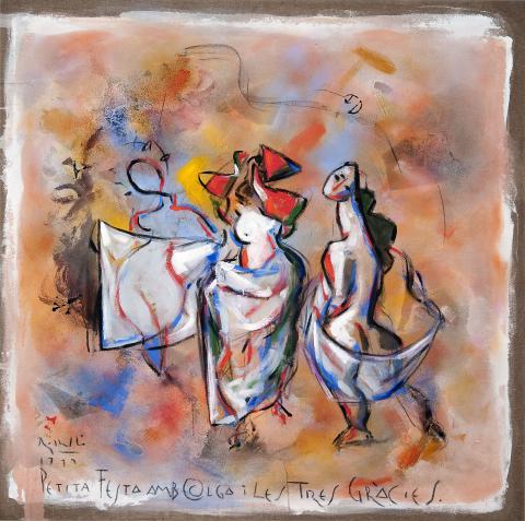 Petita festa amb Olga i les Tres Gràcies | Rosselló ( Roselló Virgili, Josep M)
